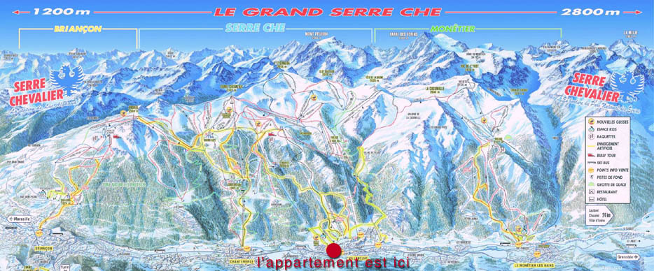 plan des pistes location Serre Chevalier